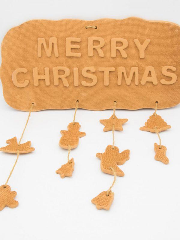 """Κρεμαστή πινακίδα """"Merry Christmas"""""""